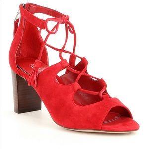 Ralph Lauren Red Suede Sandals